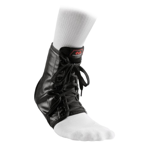 Ankle Support Brace Laces With Inserts - McD/A101 Black