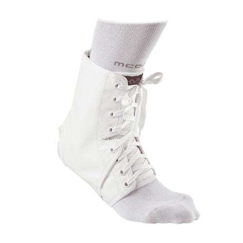 Ankle Support Brace Laces With Inserts - McD/A101 White