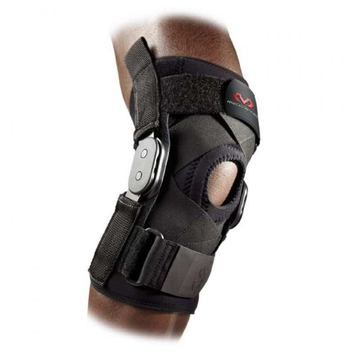 Knee  Brace With Polycentric Hinges And Cross Straps - McD/429X Black