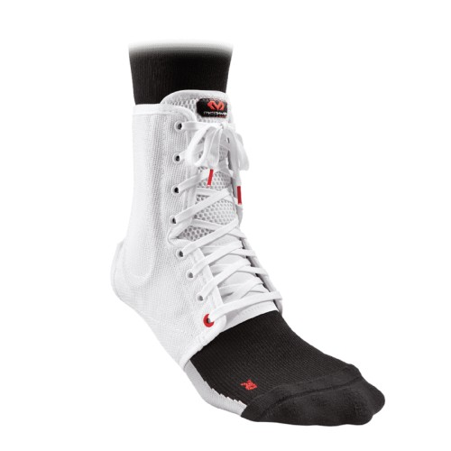 Ankle Support Brace Lace - Up With Stays - McD/A199 White