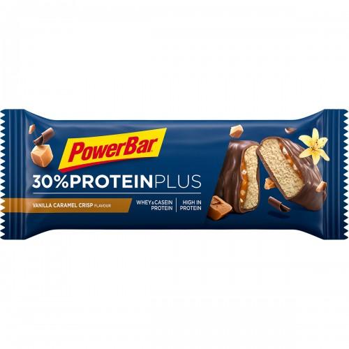 Protein Plus 30% Vanilla Caramel Crisp 55gr   Μπάρα πρωτεΐνης Βανίλια Καραμέλα