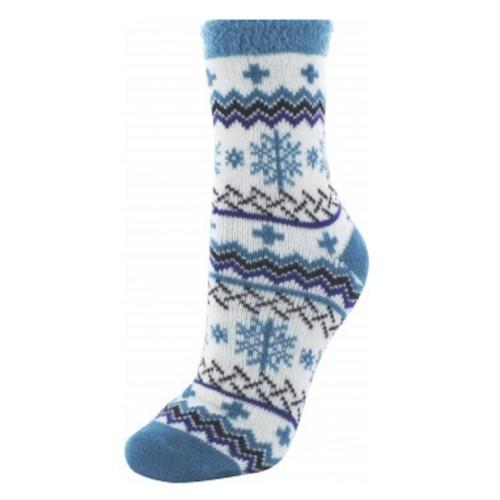 Cabin Socks Aloe Vera Blue Snow - YAK/105040