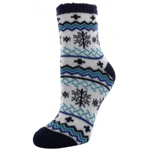 Cabin Socks Aloe Vera Blue - YAK/105101