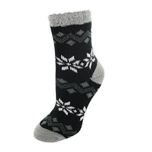 Cabin Socks Aloe Vera Black - YAK/105019