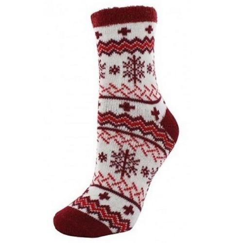 Cabin Socks Aloe Vera Red - YAK/105064