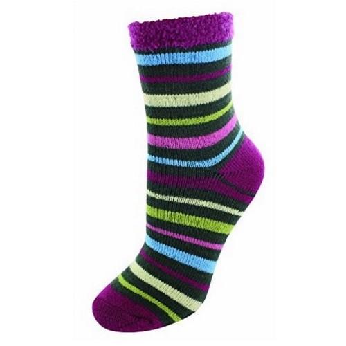 Cabin Socks Aloe Vera Stripes - YAK/105002