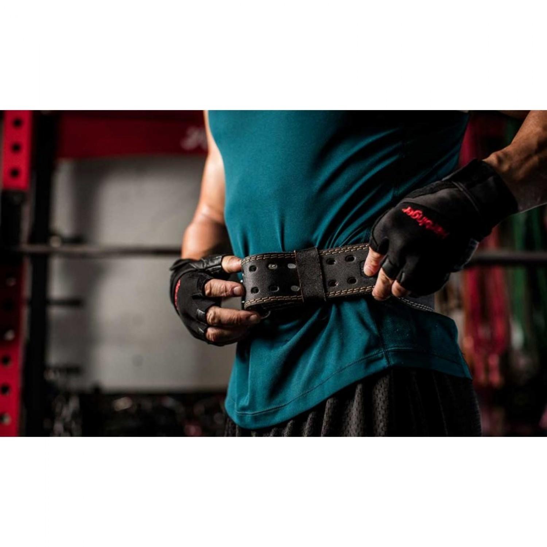 Padded Leather Belt 4 in - HBG/3610 Black
